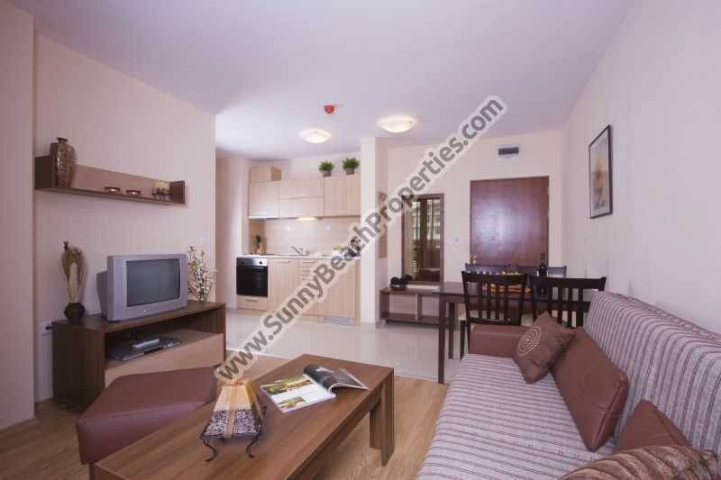 1-bedroom ski apartments 2+2 for rent, Redenka Lodge, 8km from the ski lift in Bansko ski resort, Bulgaria