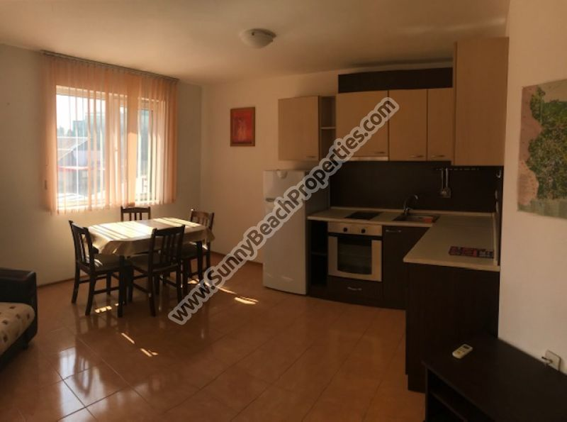 Furnished resale 1-bedroom apartment in Residential building without maintenance for sale 200 m from downtown Sunny beach, 300 m. from the beach.