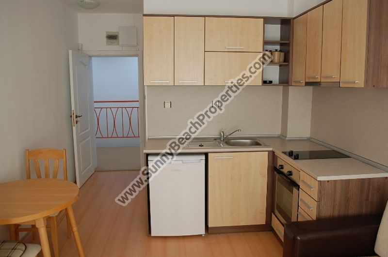 370€/m2! Furnished studio apartment for sale in Sunny day 5 apart-complex, in the suburbs of Sunny beach, 3 km from the beach.