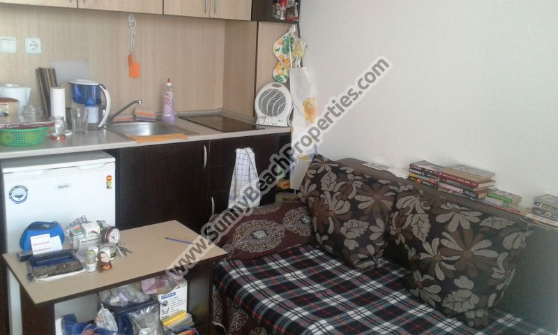 Furnished studio apartment for sale in Sunny day 6 in the suburbs of Sunny beach, Bulgaria