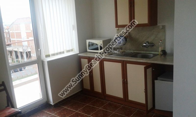 Furnished 2-bedroom/2-bathroom penthouse apartment for sale in residential building in Nesebar, Bulgaria