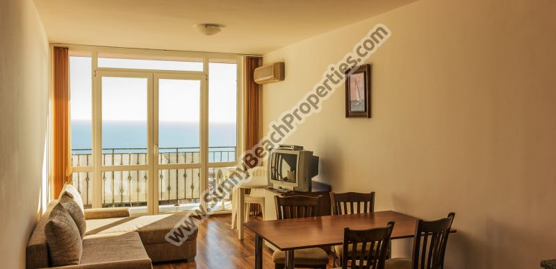 Sea and forest view furnished 1-bedroom/1.5-bathroom apartment for sale in Tower Hill 2, 500m from beach Saint Vlas, Bulgaria