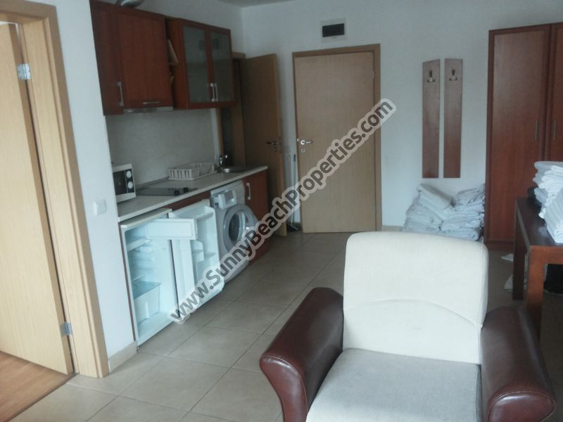 Park view furnished 1-bedroom/2-bathroom apartment  for sale in Ashton Hall downtown Sunny beach, 150m. from the beach