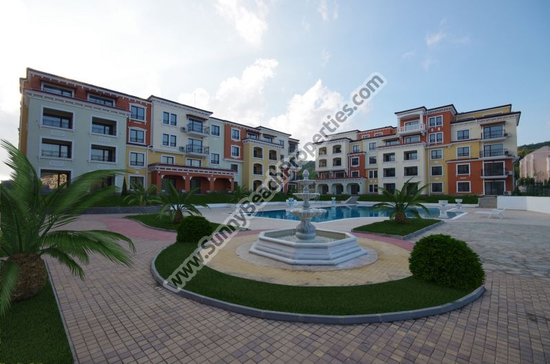 Sea view 2-bedroom apartments for sale in Lily Beach Resort, 150m from beach, Sozopol, Bulgaria