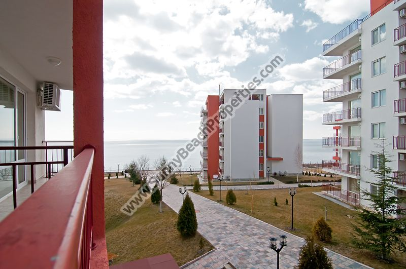 Sea view 2-bedroom apartment for rent in beachfront Panorama Fort 100m. from beach in Elenite resort, Bulgaria